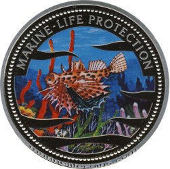 """Picture of Палау 1 долар 2002 """"Риба скорпіон, Серія"""" Захистимо морський світ """""""