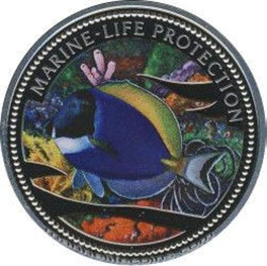 """Picture of Палау 1 долар 2002 """"Синя риба-хірург, Серія """"Захистимо морський світ"""""""