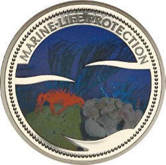 """Picture of Палау 1 долар 2003 """"Помаранчевий краб, Серія """"Захистимо морський світ"""""""