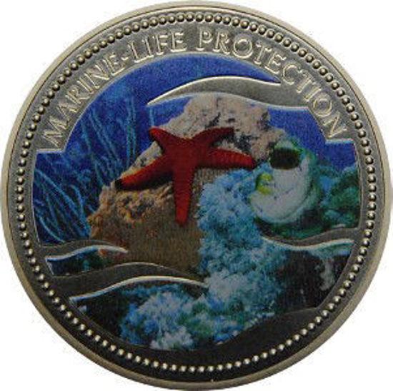 """Picture of Палау 1 долар 2003 """"Морська зірка, Серія"""" Захистимо морський світ"""""""