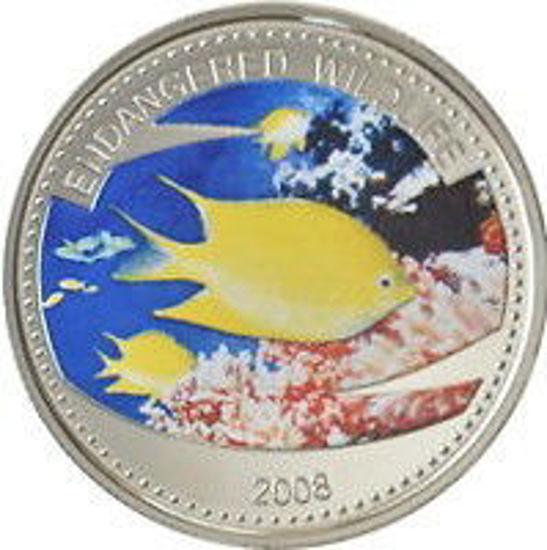 """Picture of Палау 1 долар 2008, """"Риба жовта дівчина, Серія """"Захистимо морський світ"""""""