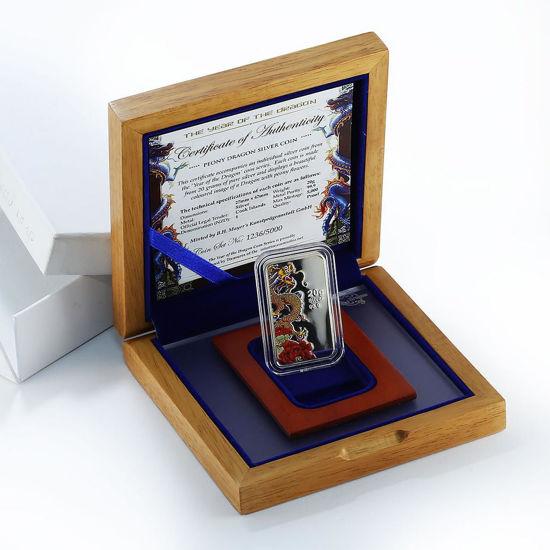 "Picture of Срібна прямокутна монета ""Рік Дракона"" 20 грам"