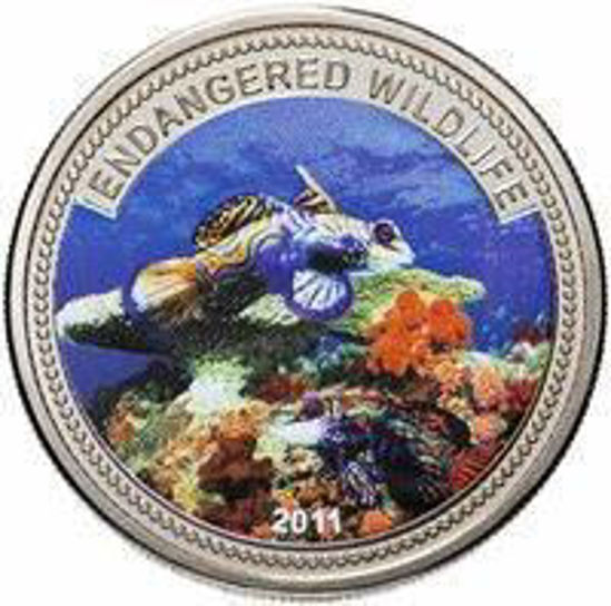 "Picture of Палау 1 доллар 2011, ""Мандарин дракон, Серия ""Дикая Природа в опасности"""