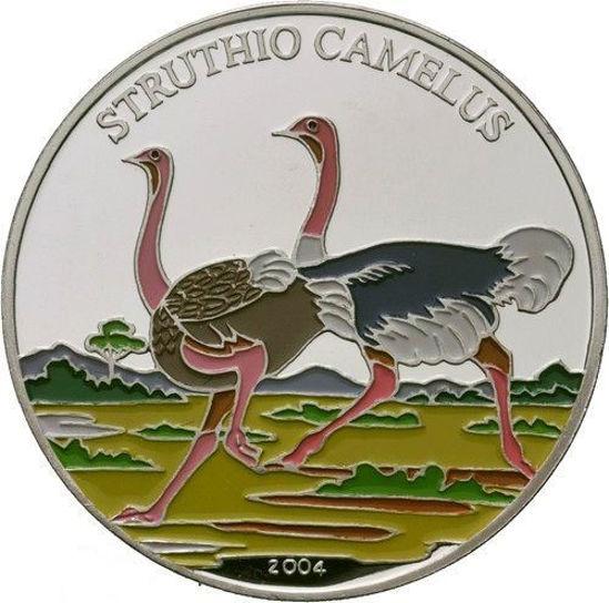 Picture of Бенін 1000 франків КФА 2004, Фауна Африки. Африканський страус. Срібло