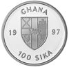 "Picture of Гана 100 сика 1997, Морские рыбы, Серия ""Защитим морской мир"". Серебро 25,05 гр."