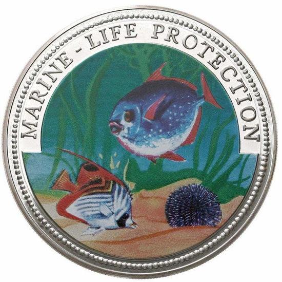 "Picture of Гана 500 сика 1997, Морские рыбы, Серия ""Защитим морской мир"". Серебро 155,5 гр."