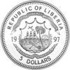 """Picture of Ліберія 5 доларів 1997, Коралова риба, Серія """"Захистимо морський світ"""". Срібло 25 гр."""