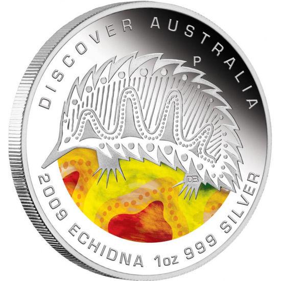 "Picture of Серебряная цветная монета ""Ехидна"" Австралия 2009 31.1 грамм"