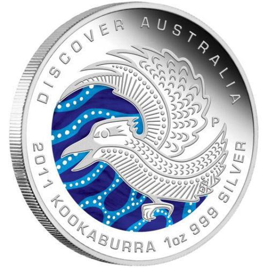 "Picture of Серебряная цветная монета ""Кукабарра"" Австралия 2011 31.1 грамм"