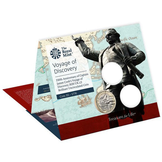Picture of Англія, Великобританія 2 фунта 2020 року, Експедиції капітана Джеймі Кука (в буклеті)