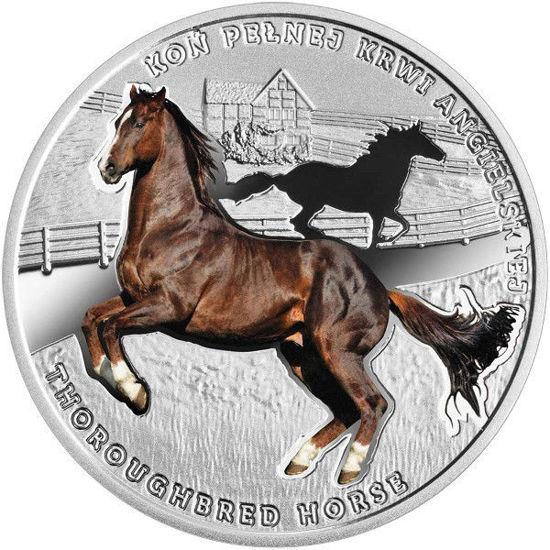 """Picture of Срібна монета """"Чистокровний верховий кінь"""" Ніує"""