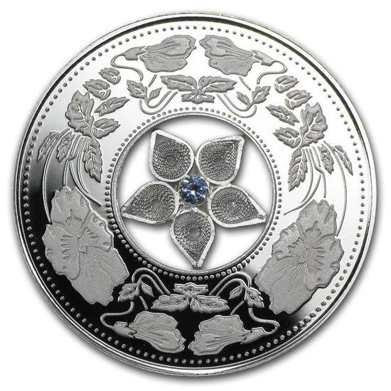 """Picture of Срібна монета """"Філігранна перлина"""" Фіджі 2012 20 грам"""