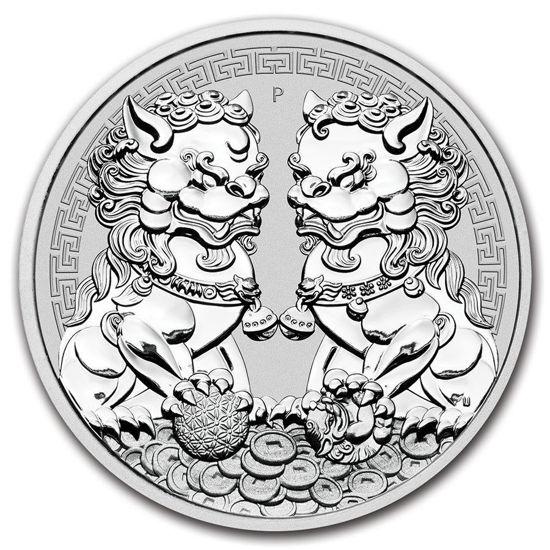 """Picture of Серебряная монета """"Двойной Пиксиу"""" Австралия 2020  31.1 грамм"""