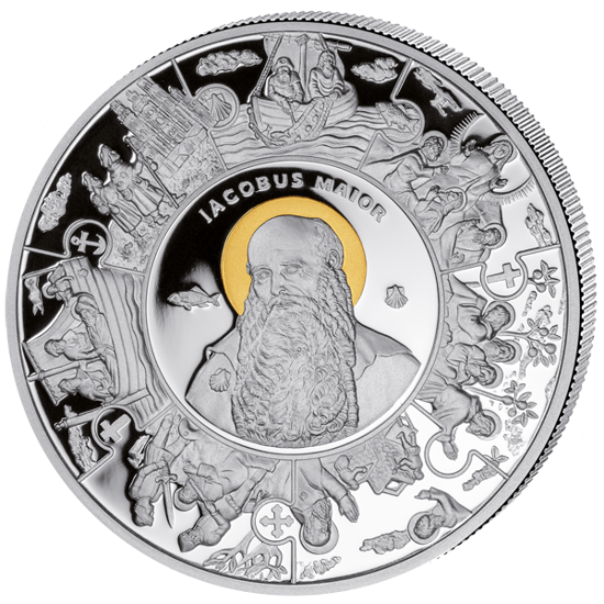 """Picture of """"Апостол Яків"""" срібло з позолотою 28,28 грам"""