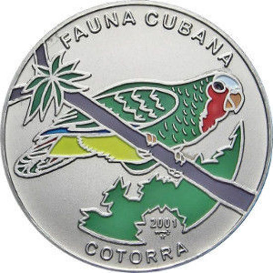 "Picture of Куба 1 песо 2001, ""Папуга cotorra"" Серія ""Фауна Карибів"""