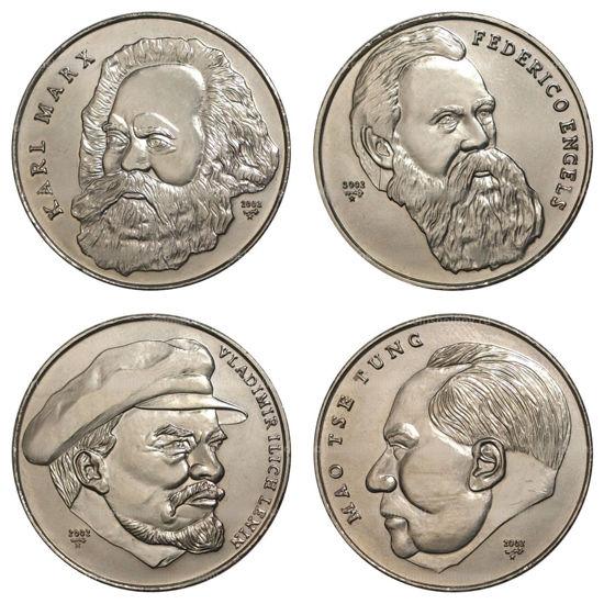"""Picture of Куба 1 песо 2002, Набор из 4 монет """"Вожди мирового пролетариата"""""""