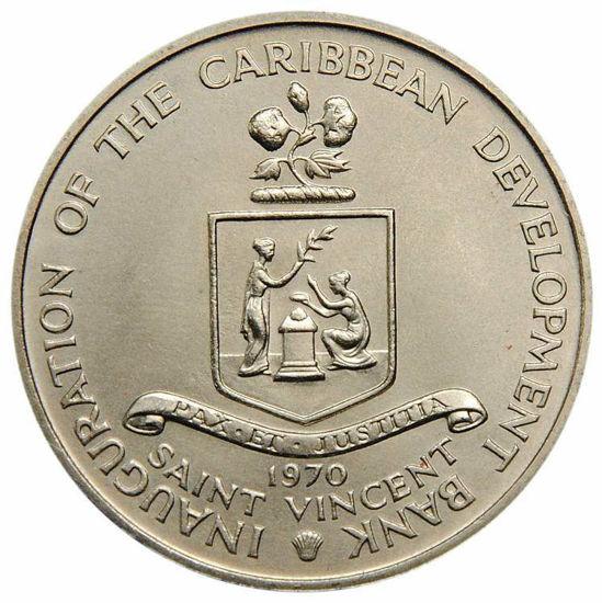 Picture of Сент-Люсія 4 долари 1970, ФАО: Організація Об'єднаних Націй по Харчуванню і Сільському господарству