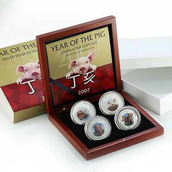 Picture of Лунный серебряный набор год Свиньи