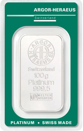 Picture of Злиток Платини 100 грам ARGOR-HERAEUS (новий)