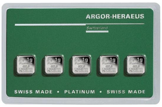 Picture of Злиток Платини 5 грам ARGOR-HERAEUS (новий)