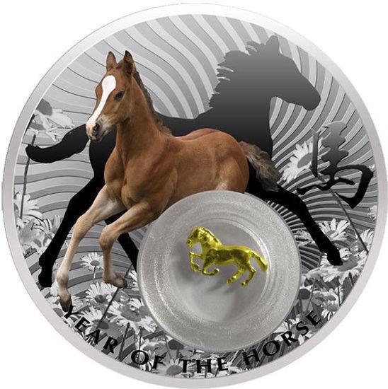 Picture of Серебряная монета  «Год Лошади» 28,28 грамм Ниуэ  2014