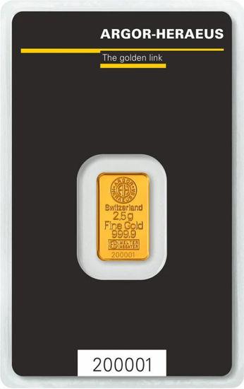 Picture of Золотий злиток 2,5 ГРАМА ARGOR-HERAEUS (новий)