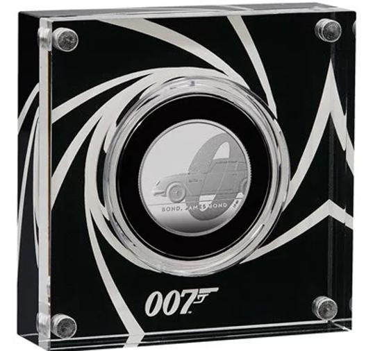 """Picture of Англія, Великобританія, 1 фунт 2020 Джеймс Бонд """"Агент 007"""". Proof, Срібло. І тип"""