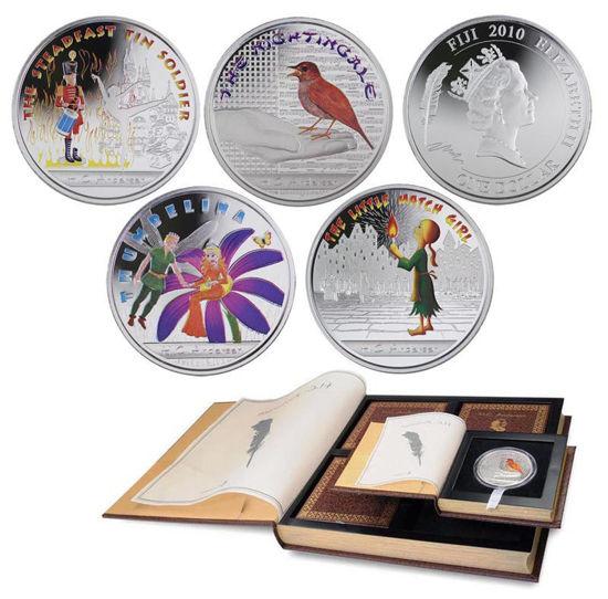Picture of Набор цветных  серебряных монет «Сказки Андерсена» Острова Фиджи 2010