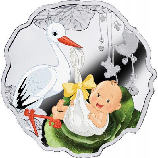 """Picture of Срібна кольорова монета """"Народжений бути щасливим"""" Ніуе 2016"""