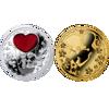 "Picture of Набір монет ""Молодята - любов"" позолотаі срібло Ніуе 2014"