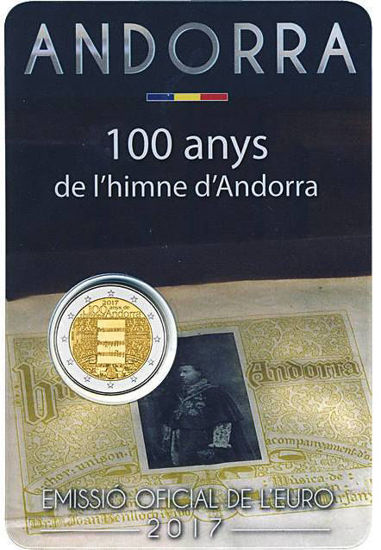 Picture of Андорра 2 евро 2017, 100 лет гимну Андорры
