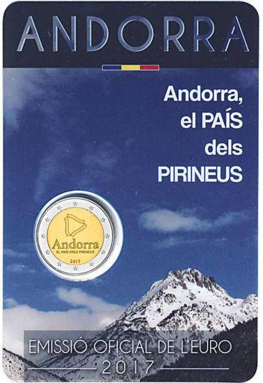 Picture of Андорра 2 євро 2017, Андорра- країна Піренеїв