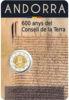 Picture of Андорра 2 євро 2019, 600 років Ради Землі