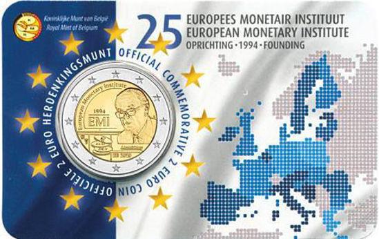 Picture of Бельгія 2 євро 2019, 25 років Європейського валютного інституту