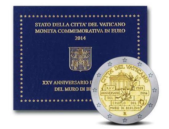 Picture of Ватикан 2 євро 2014, 25 років падіння Берлінської стіни