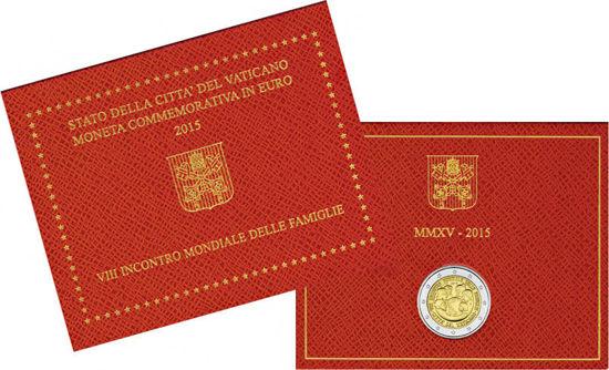 Picture of Ватикан 2 євро 2015, VIII Всесвітня зустріч сімей в Філадельфії