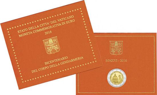 Picture of Ватикан 2 евро 2016, 200 лет папской жандармерии