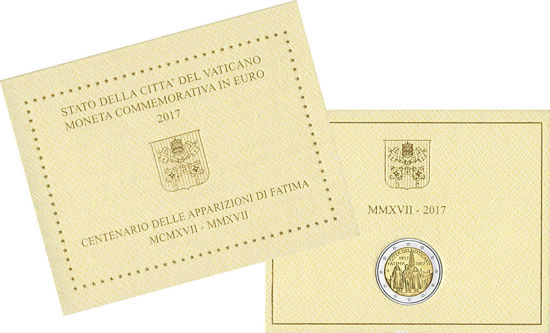 Picture of Ватикан 2 евро 2017, 100 лет явления Девы Марии в Фатиме