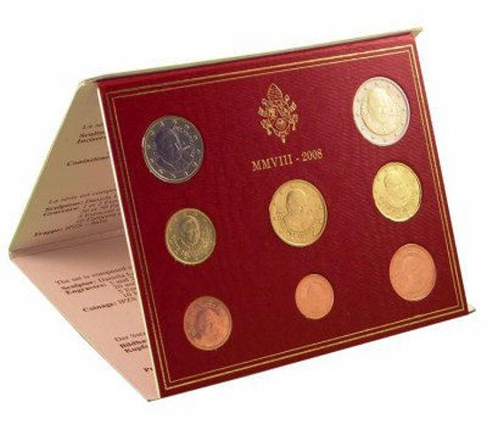 Picture of Ватикан Годовой набор монет евро 2008 (8 монет в буклете)