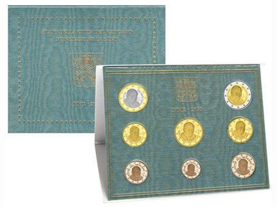 Picture of Ватикан Годовой набор монет евро 2010 (8 монет в буклете)