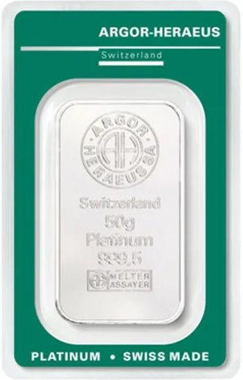 Picture of Злиток Платини 50 грам ARGOR-HERAEUS (новий)