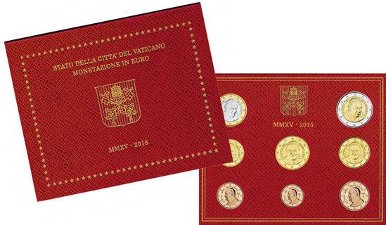 Picture of Ватикан Годовой набор монет евро 2015 (8 монет в буклете)