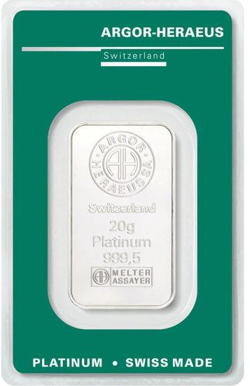 Picture of Слиток Платины 20 грамм ARGOR-HERAEUS (новый)