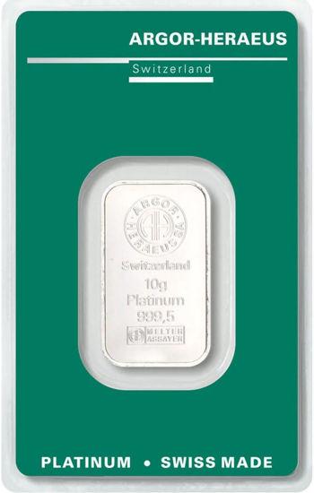Picture of Злиток Платини 10 грам ARGOR-HERAEUS (новий)