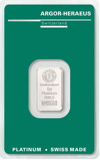 Picture of Слиток Платины 5 грамм ARGOR-HERAEUS (новый)