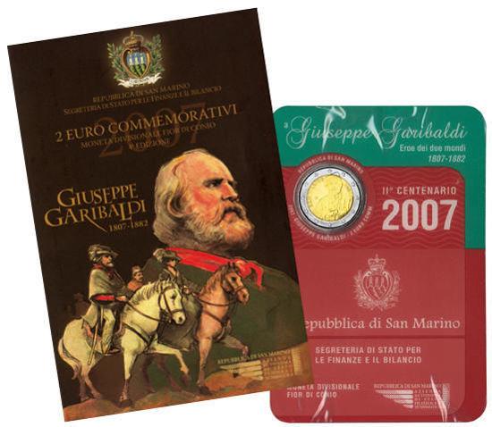 Picture of Сан-Марино 2 євро 2007, 200 років від дня народження Джузеппе Гарібальді