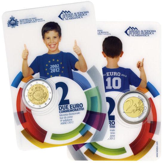 Picture of Сан-Марино 2 евро 2012, 10 лет наличному обращению евро