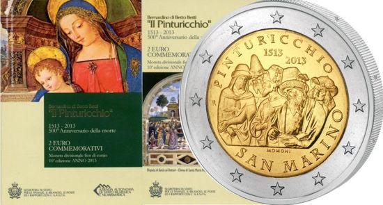 Picture of Сан-Марино 2 евро 2013, 500 лет со дня смерти художника Пинтуриккьо