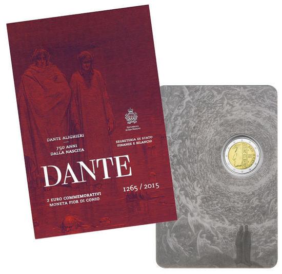 Picture of Сан-Марино 2 євро 2015 року, 750 років з дня народження Данте Аліг'єрі