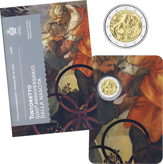 Picture of Сан-Марино 2 евро 2018,  500 лет со дня рождения Тинторетто